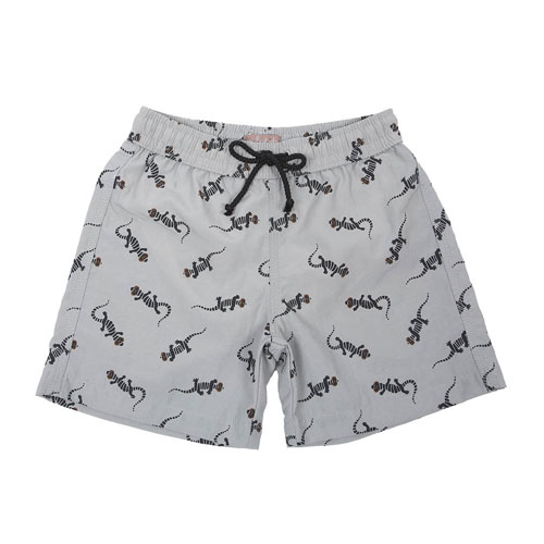 Short de Bain Lézards Gris