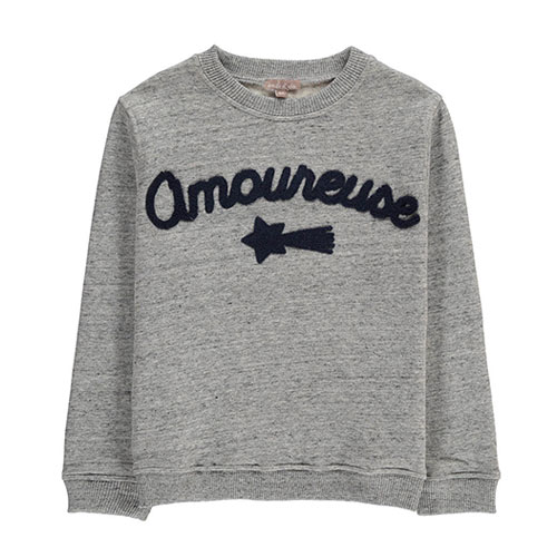 Sweat Amoureuse chiné