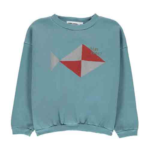 Sweat Poisson bleu gris