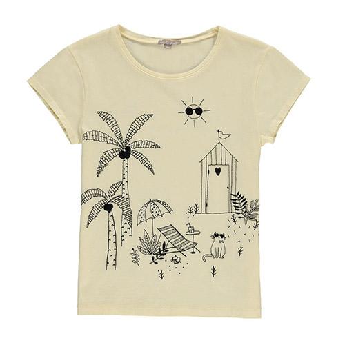 T-shirt brodé Jardin