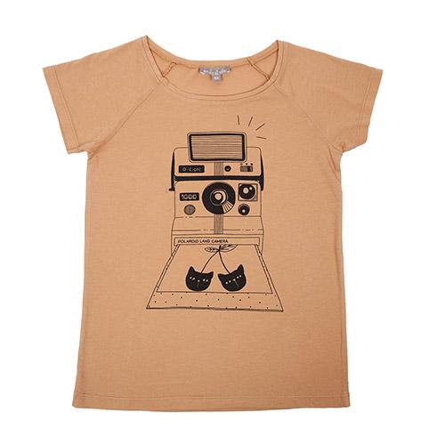 T-shirt Polaroïd camel