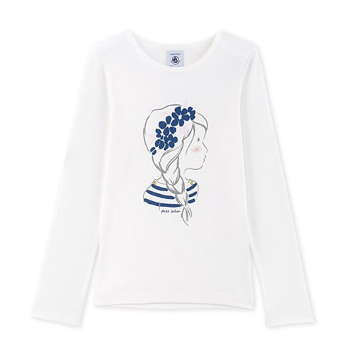 T-shirt Romantic blanc