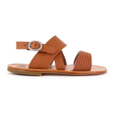 Sandales Cuir Perforé