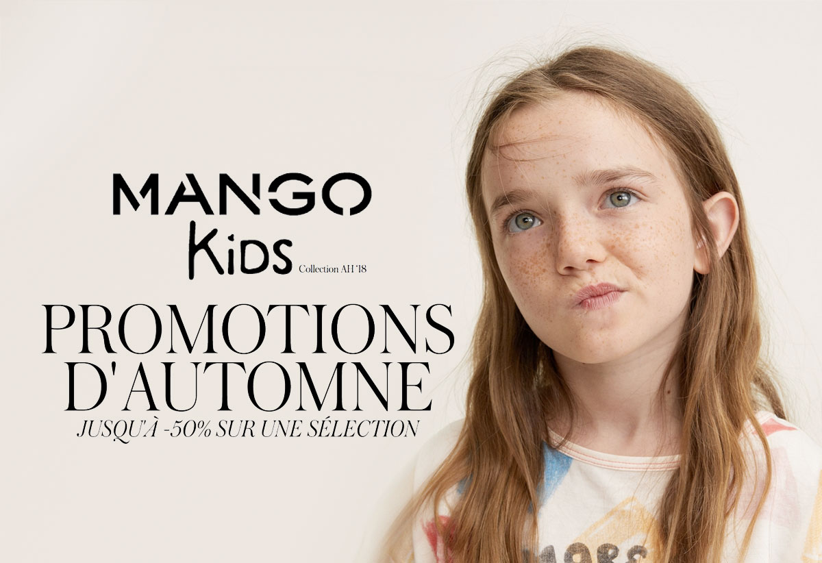 Promotions Mango Kids : 50% sur une sélection