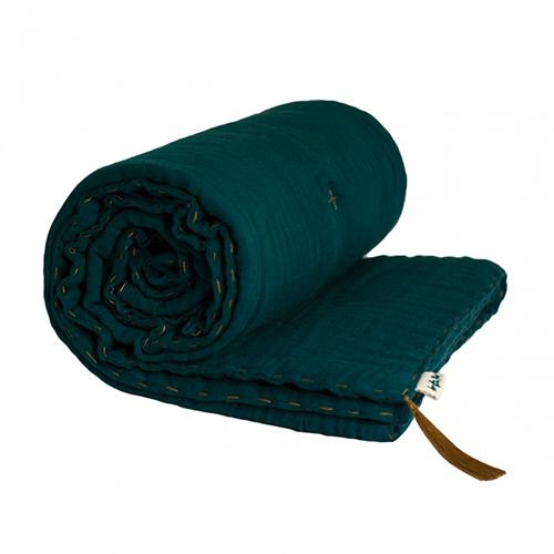Couverture outinée bleu