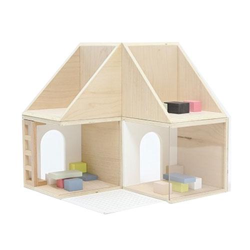Maison de poupée en bois Naturel