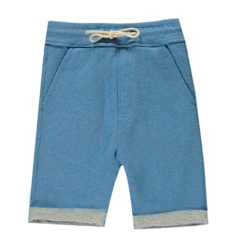 Bermuda molleton denim