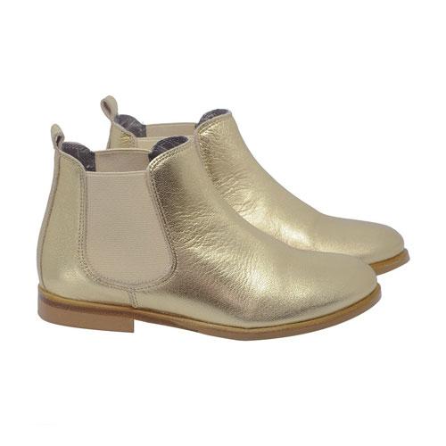Boots en cuir doré