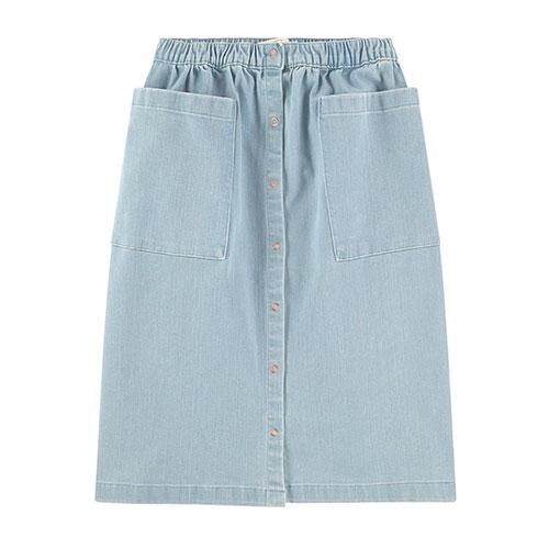 Jupe longue en jeans