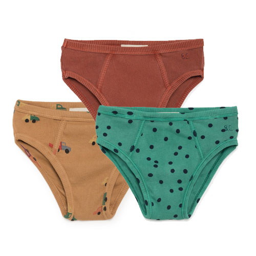 Pack de 3 Slips multicolore