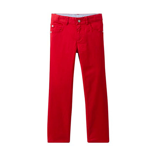 Pantalon jeans rouge