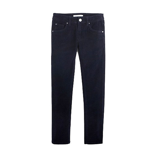 Pantalon slim velours