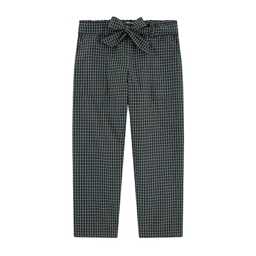 Pantalon taille haute carreaux