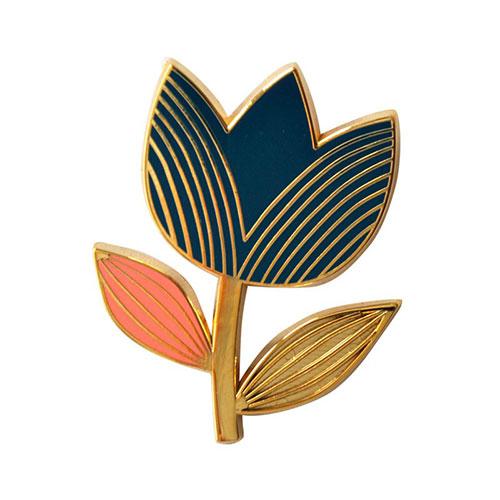 Pin's Tulipe marine