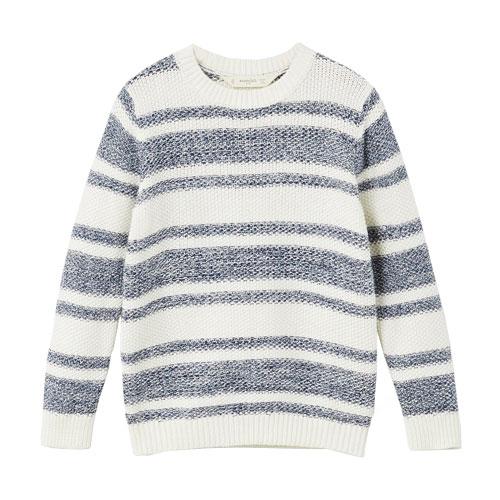 Pull coton bicolore