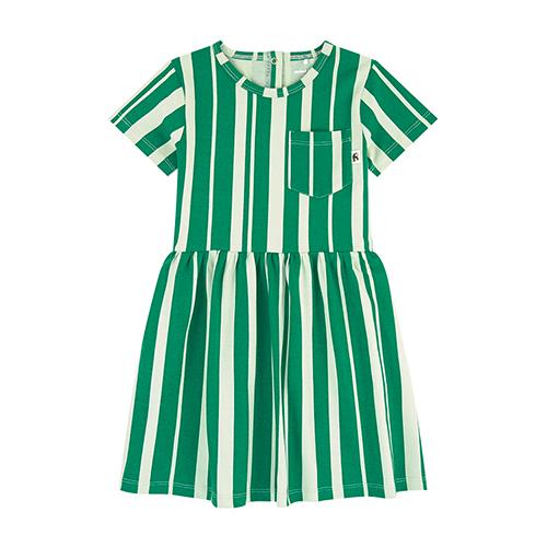 Robe rayée verte