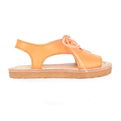 Sandales ajourées corail