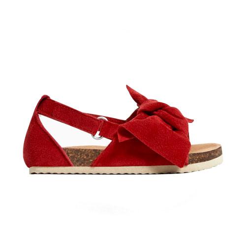 Sandales cuir avec nœud