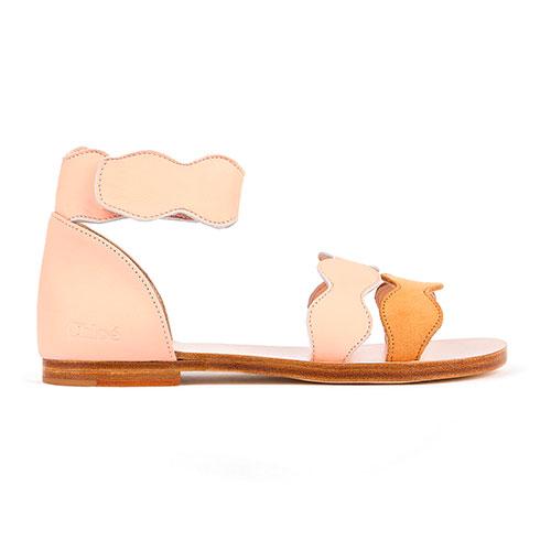 Sandales cuir bi-colores