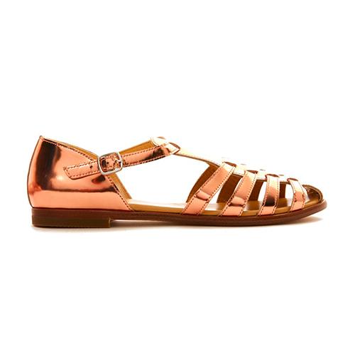 Sandales cuivre