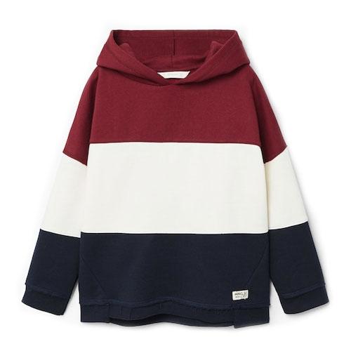 Sweat-shirt coton combiné