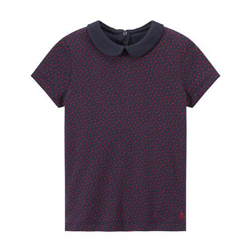 T-shirt à col Claudine
