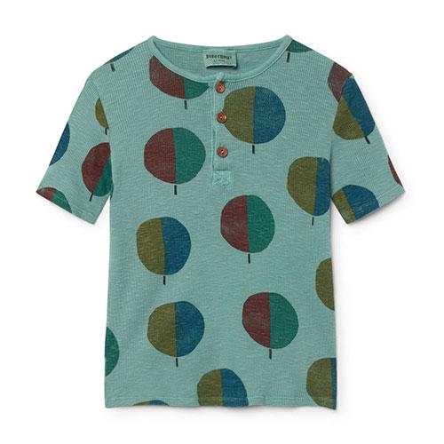 T-shirt boutonné Arbres