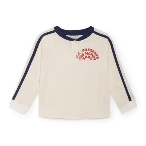 T-shirt boutonné écru