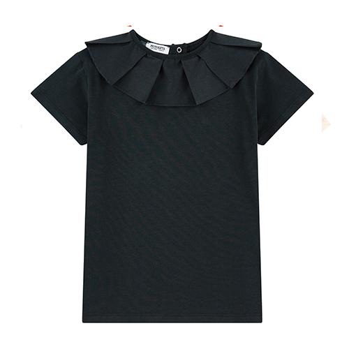 T-shirt col noir