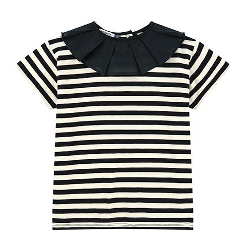 T-shirt col rayé