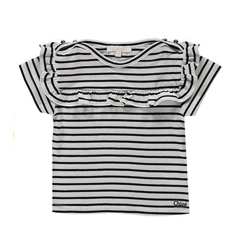 T-shirt rayé boutonné