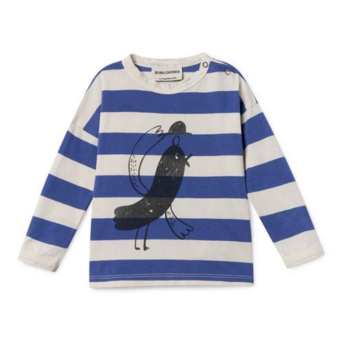 T-shirt rayé Oiseau