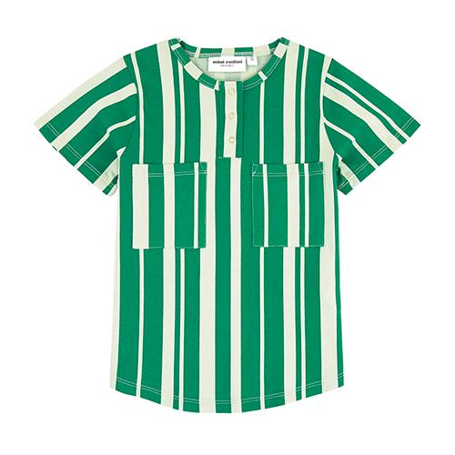 T-shirt rayé vert