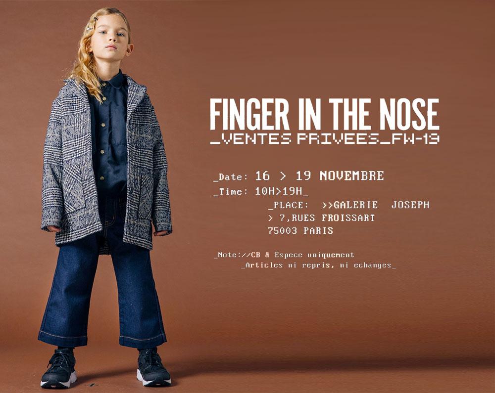 Ventes privées Finger in the Nose