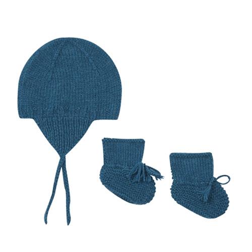 Bonnet et chaussons alpaga
