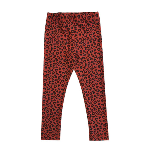 Legging Leopard rouge