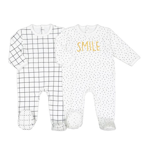 Lot de 2 pyjamas velours