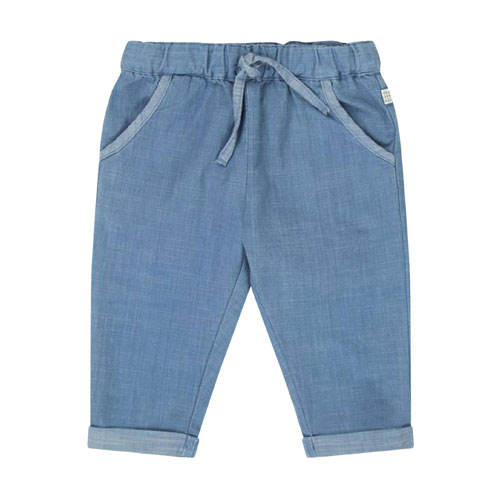 Pantalon chambray denim