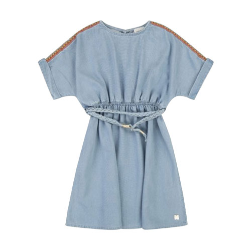 Robe denim bleached
