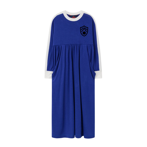 Robe tencel cockatoo bleu