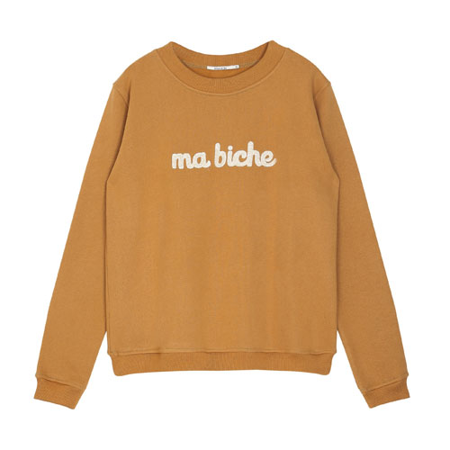 Sweat brodé ma biche
