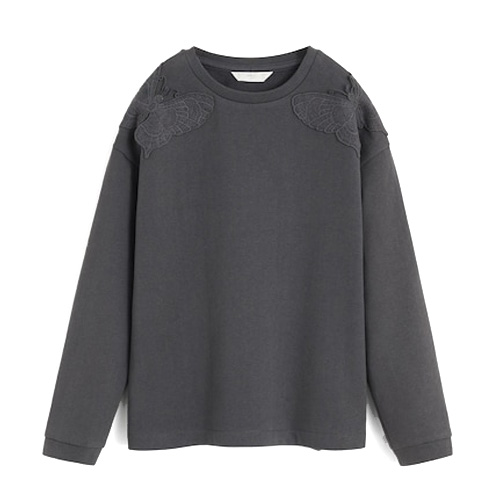 Sweat-shirt papillons en relief