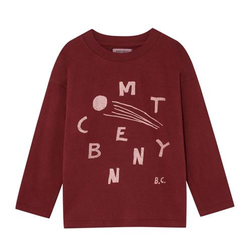 T-shirt Comète bordeaux