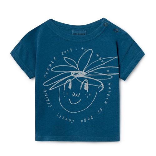 T-shirt lin bleu