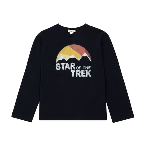T-shirt star du trek bleu nuit