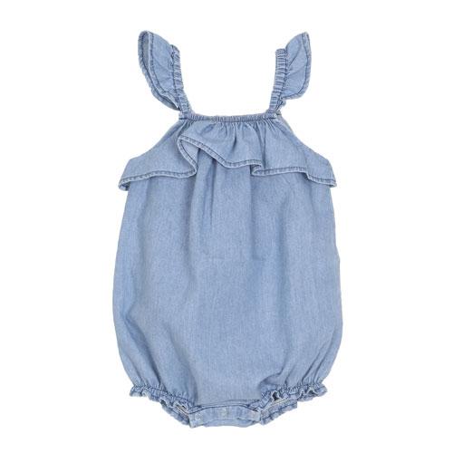 Barboteuse chambray bleu jean