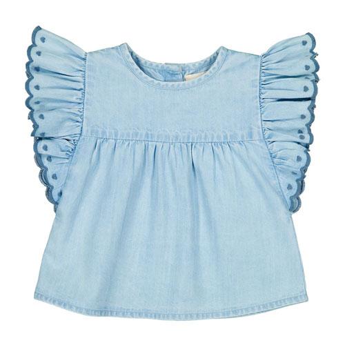 Blouse chambray Jasmin bleu jean