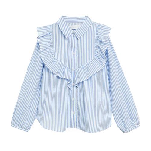 Chemise rayée à volants