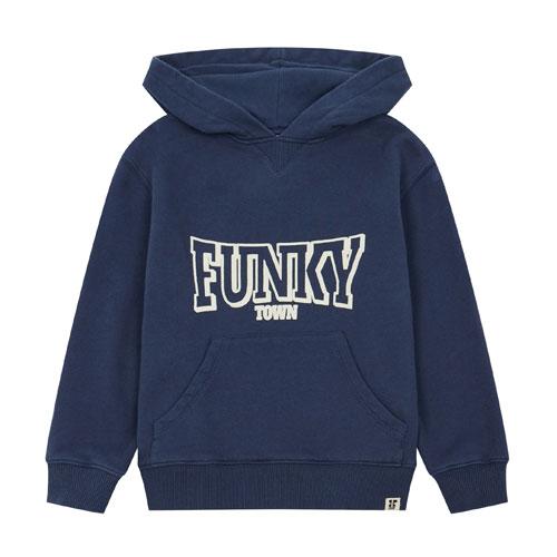 Hoodie Funky Town bleu