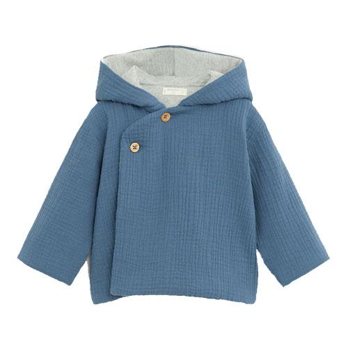 Manteau texturé capuche